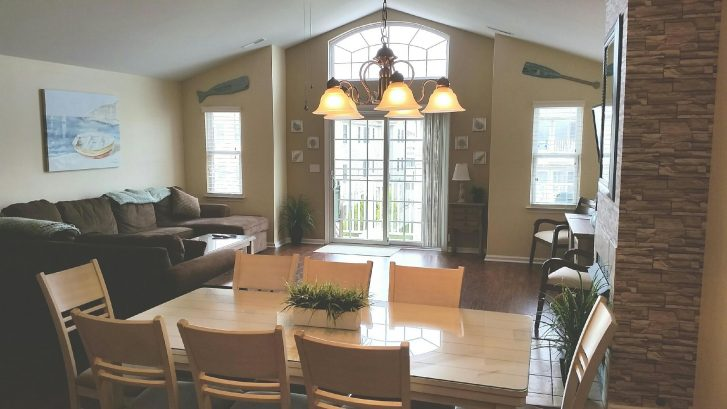 Dining Table and Living Room