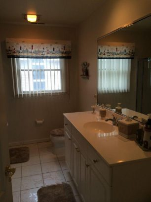 Upstairs Hall Bathroom with walk in Shower