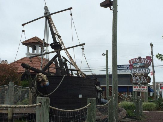 Close to Pirate Island Golf Amusement