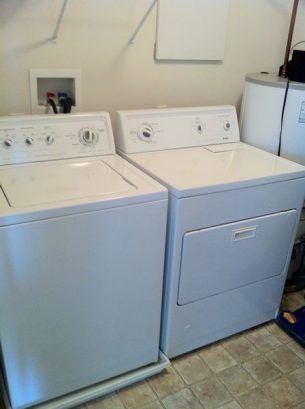 Laundry room- large capacity washer and dryer.