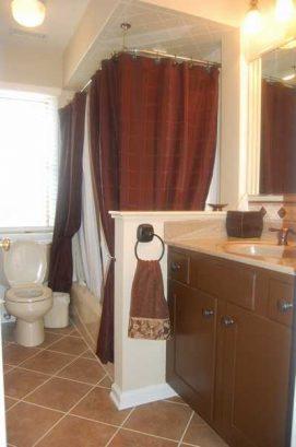 Downstairs Hall Bath, Tile Floor,  Shower Massage W/ Hose (1st floor)