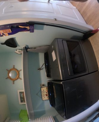 New Large capacity digital laundry machines in separate laundry room