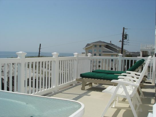 2nd Floor Deck Overlooks the Beach