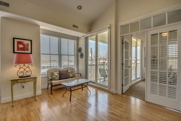Living Room Area Doors to Deck