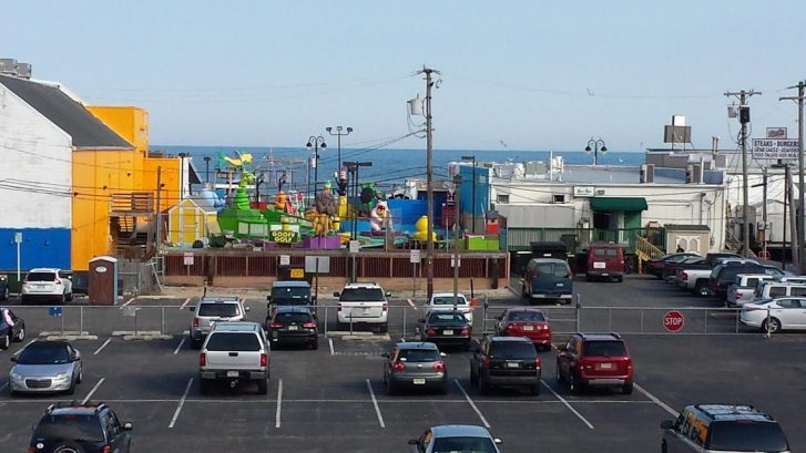 enlarged view of ocean and boardwalk from deck