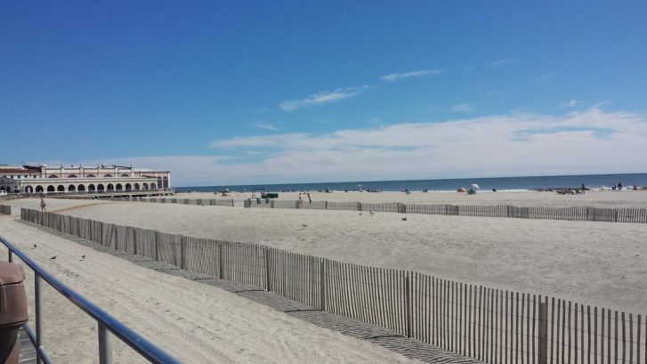 View of 9th St beach and Ocean City Music Pier