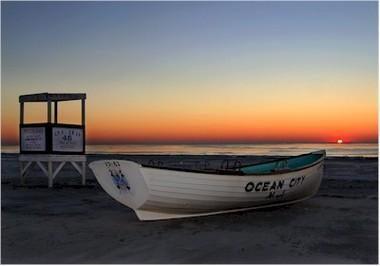 Ocean City beach scene