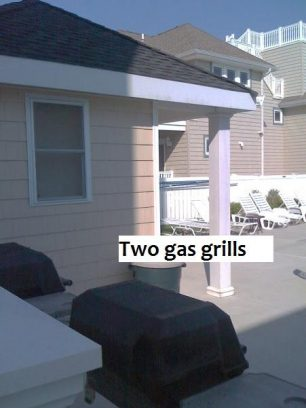 Two gas grills
