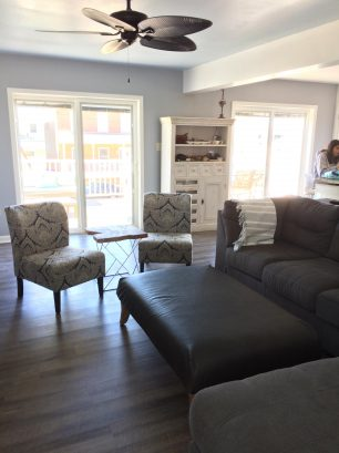 living room/kitchen to front deck