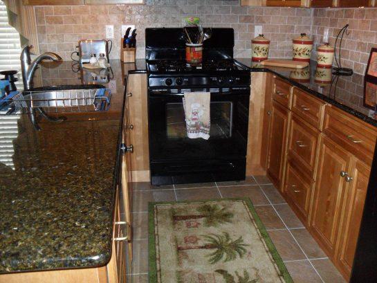 Closeup of  Galley Kitchen