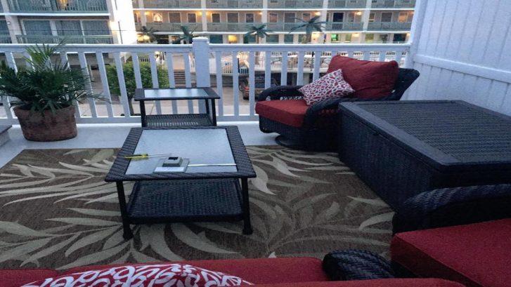 Back deck sitting area