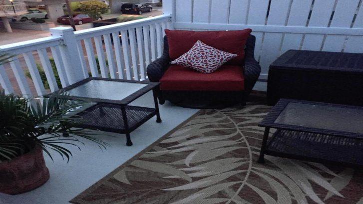 Back deck stting area