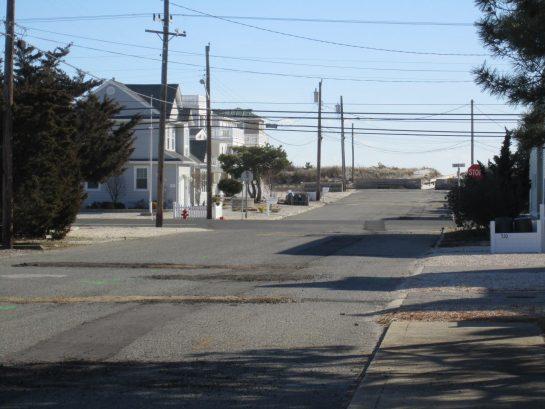 Street view to beach
