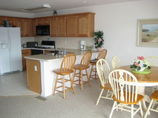 Dining Area with Table and Large Counter
