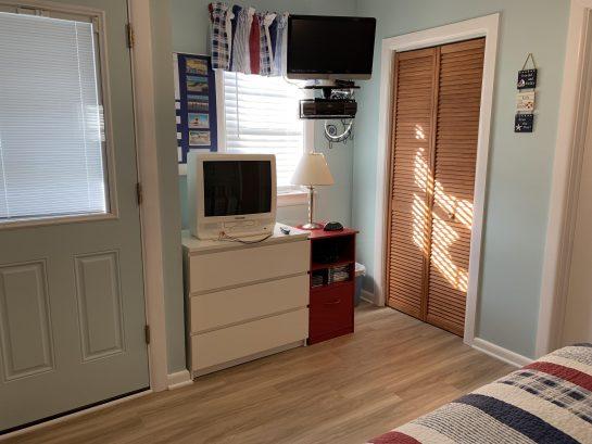 Bedroom off the kitchen