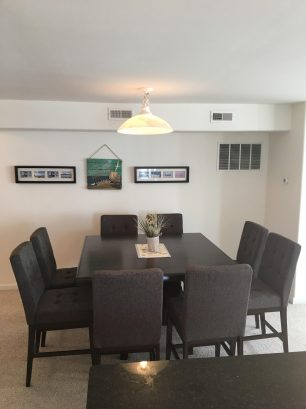Dining room with 8 chairs