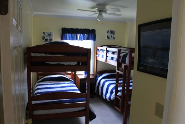 First Floor Bedroom with 2 New Bunk Beds