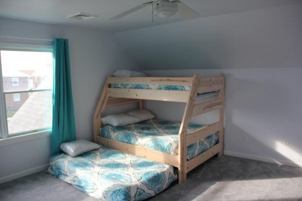 Bedroom with Double/Single Bunk Bed and Trundle - Second Floor