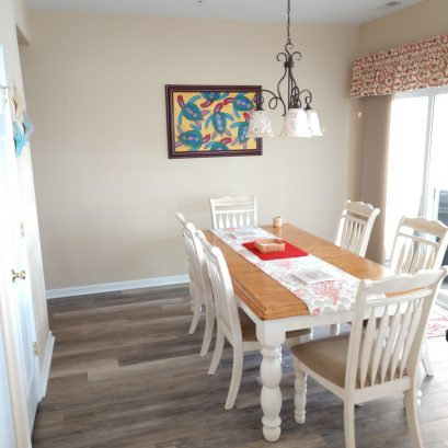 Dining Room With Sliders to Balcony