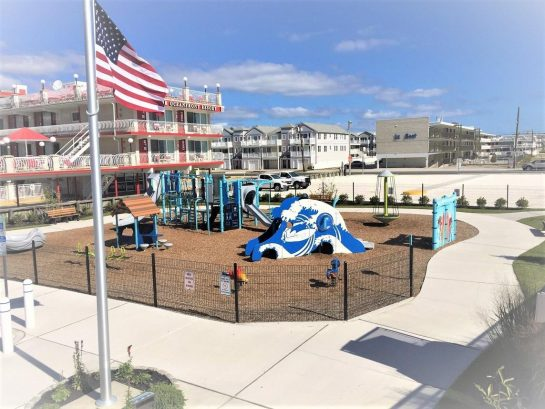 All New 2017 North Wildwood Arch Playground right next door !