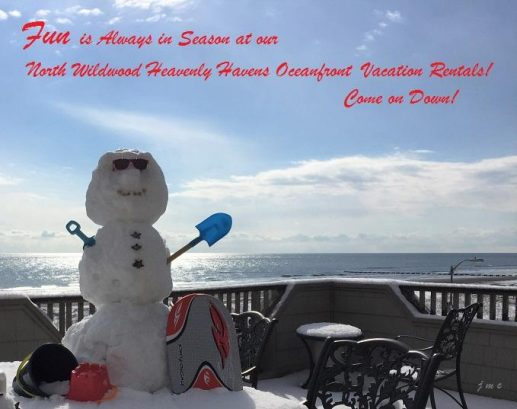 FUN is Always in Season at our North Wildwood Heavenly Havens Oceanfront Vacation Rentals! Come on Down!