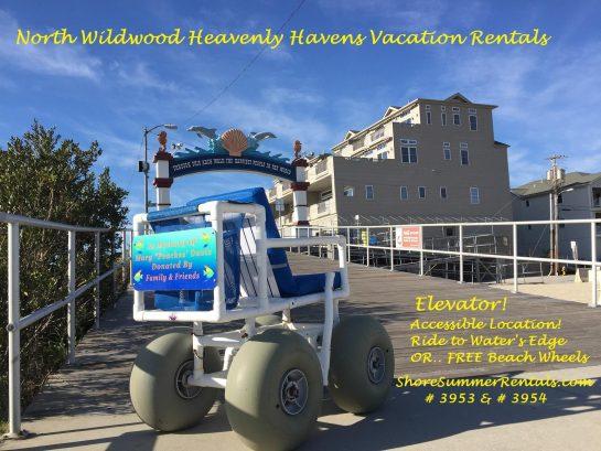 FREE Beach Wheelchairs next door at Beach Patrol Peak Season