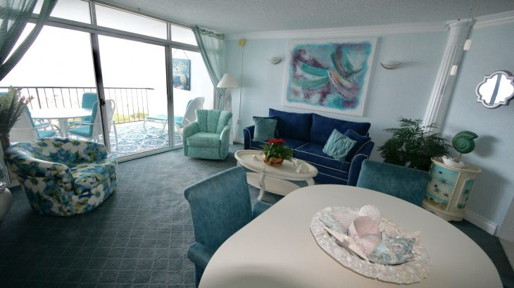 Beachfront one bedroom condo 3D