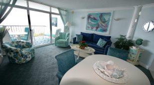 Beachfront one bedroom condo 3D