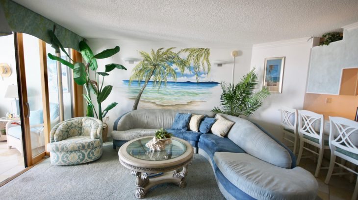 Ocean Front 2 bedroom condo unit 1C