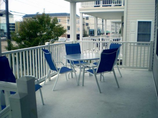 Large covered deck with cool breezes