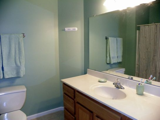 Master Bedroom Features Full Bathroom