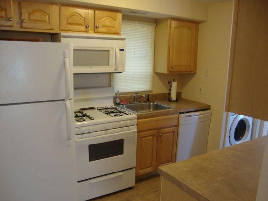 First floor - Full Galley Kitchen; washer & dryer