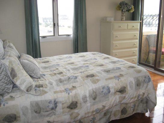 3rd Floor Queen Bedroom with private deck