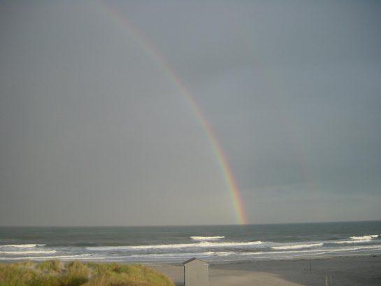 Rainbow over 14th street beach