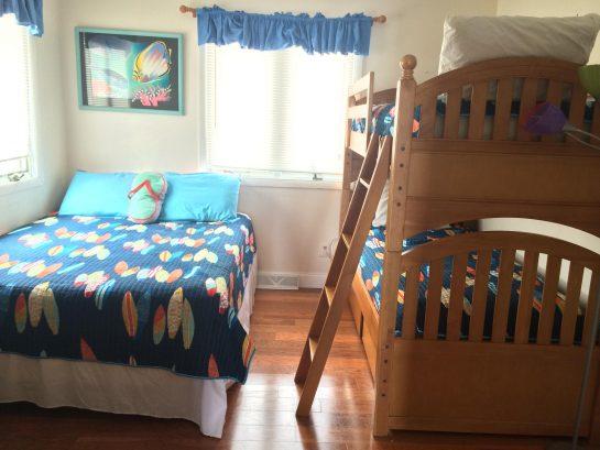 3rd Floor Queen bedroom with twin bunkbed