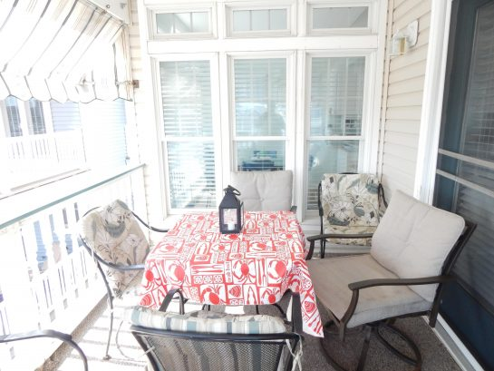 One of 3 decks. This one is perfect for dining al fresco while watching the dolphins swim by!