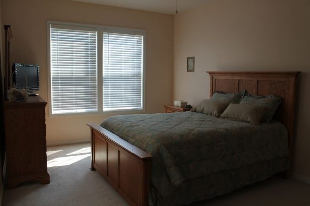 Spacious Master Suite With Queen Size Bed And Flat Screen Tv.