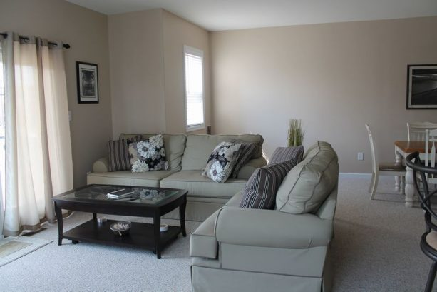 Relax in the comfy living room.