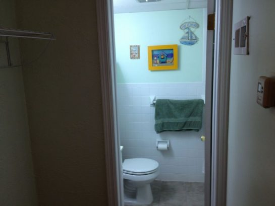 View into bathroom from 2nd bedroom