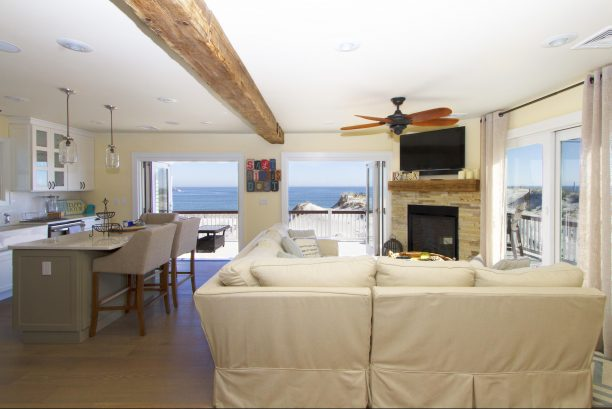 2nd floor great room.....accordian doors open entire East wall to the ocean. Layout perfect for interacting with family