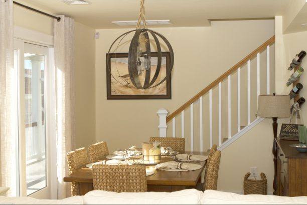 Dining room room perfectly situated to capture great views as well. Table expands with 2 leaves