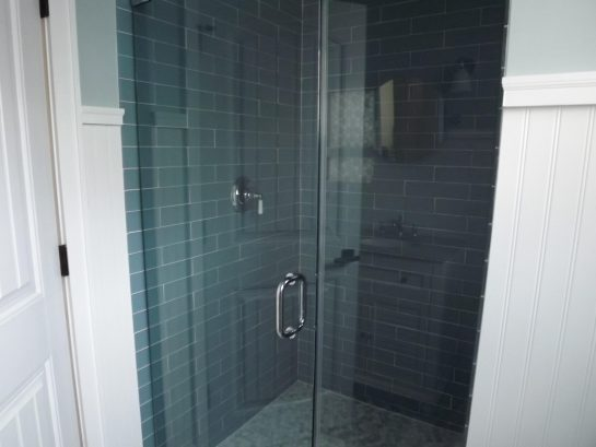 Luxury 1st floor bathroom #1...glass tile , standup shower with rainhead