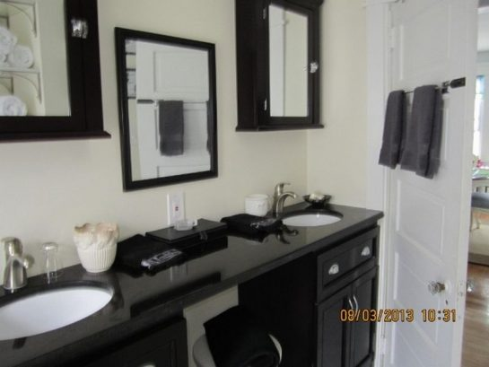 Classic Black and White, His and Her Sinks