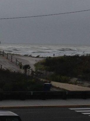 View of ocean from condo front door.