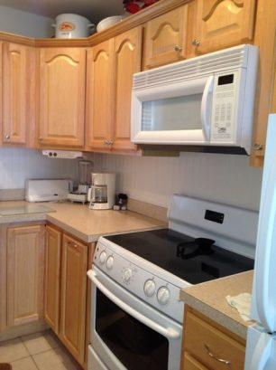 Plenty of counter space, equipped with all appliances.