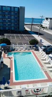 Beat the heat in the pool or relax in the sun bathing chairs or at the patio table and chairs!