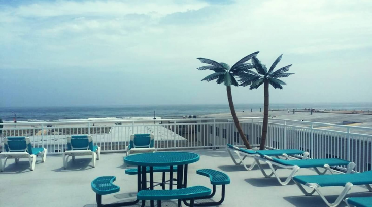 Ocean views from the sundeck!