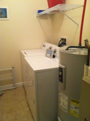 SEPARATE PRIVATE LAUNDRY ROOM OFF KITCHEN-NEW WASHER & DRYER