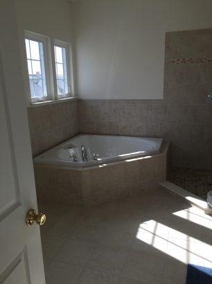 Master Bath with Jacuzzi Tub.