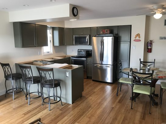 Unit 8 kitchen waiting on quartz countertops